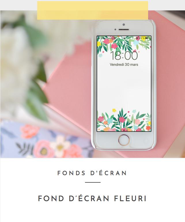 fond d'écran fleuri