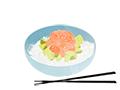 illustration riz avocat saumon