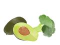 illustration avocat brocolis