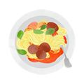 illustration spaghetti