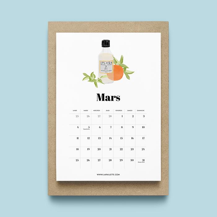 calendrier A4 mars 2019
