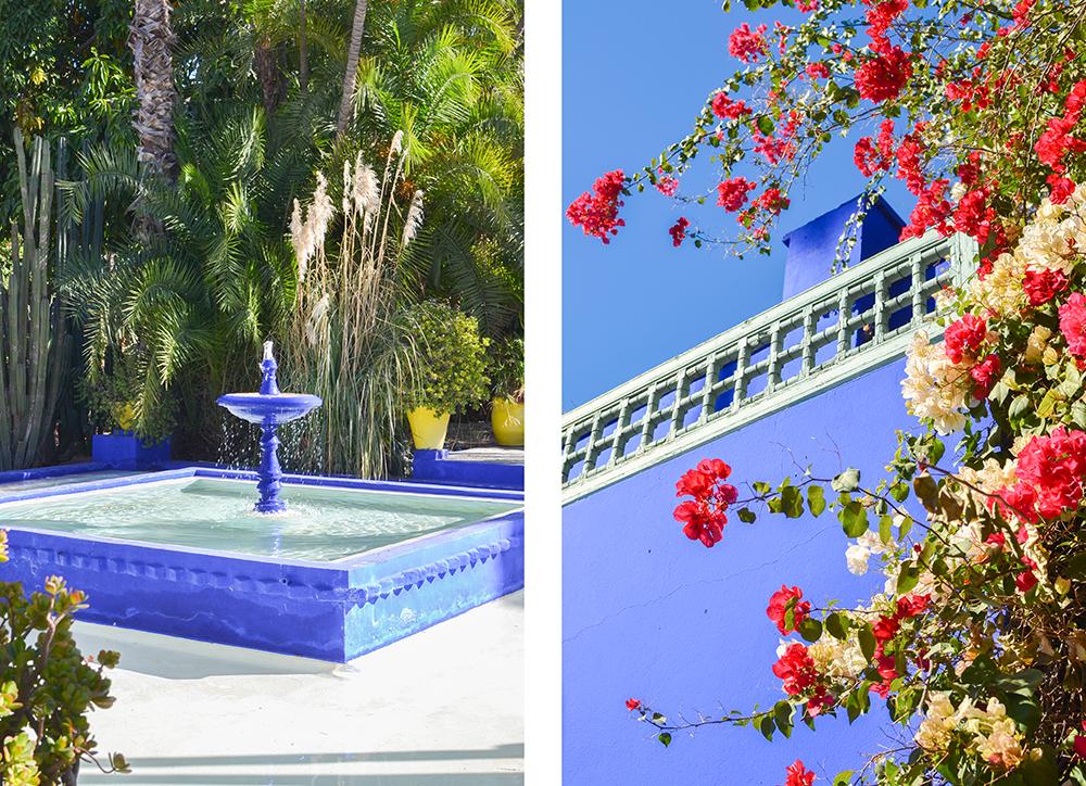 Marrakech fontaine Jardin Majorelle