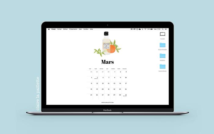 calendrier mars 2019 ordinateur