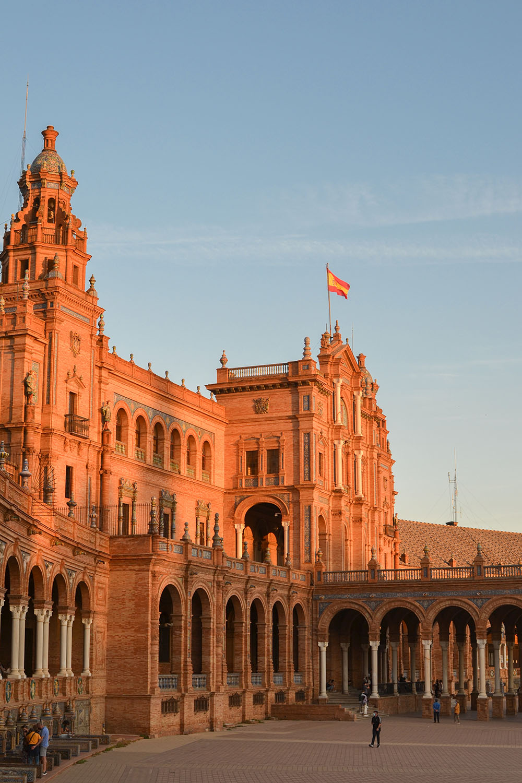 plaza de espana sunset