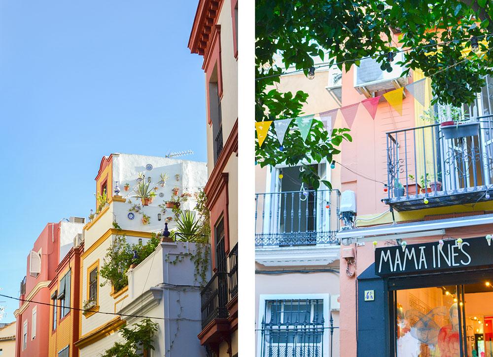 les façades colorées de séville